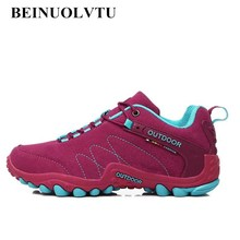 Hot 2017 Women Hiking shoes Suede Leather shoes Sport sneakers for women Outdoor Climbing hiking sneakers