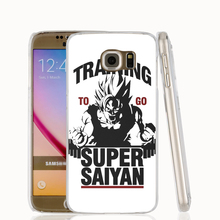 17451 Training to go Super Saiyan Dragon ball Z cell phone case cover for Samsung Galaxy S7 edge PLUS S6 S5 S4 S3 MINI