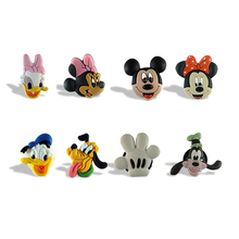 100pcs Mickey Minnie Donald Duck Fashion Stationery stickers Blackboard Refrigerator magnets Stationery stickers School Kids toy