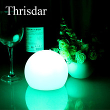 Thrisdar RGB LED Bar Table Lamp USB Rechargeable Floating Swimming Pool Ball Lamp 16 Colors Outdoor Garden Landscape Table Lamp
