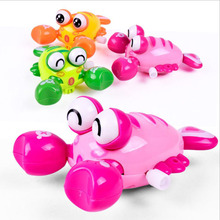 2017 Rushed Limited Tin Toys Juguetes Small Animal Plastic Educational Clockwork Toys For Kid Lovely Baby Lobster Wind Up(China)