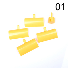 Yellow DC Micro Motor Small LED Lights Vertical Axis Wind Turbines Generator Blades