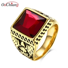 Buy Rings Mens Jewelry 316L Stainless Steel Ring Red Square Mosaic Ring Vintage Jewelry 2 Colors US Size 9-11. for $4.43 in AliExpress store
