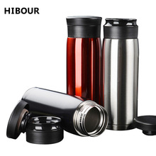 HIBOUR Stainless steel Vacuum Insulation Water Bottle Office Vacuum Flasks & Thermoses Bottles Gift Cups Car cup For Men/Women(China)