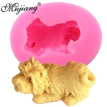 Mujiang Schnauzer Dog Silicone Soap Candle Clay Mold Fondant Cake Decorating Tools Kitchen Baking Gumpaste Chocolate Cake Moulds