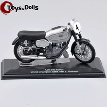ITALER Motorcycle Model 1/22  AJS E90 500cc World Champion 1949 rider L.Graham Diecast Moto Model KidsToys Boy Gifts
