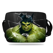 Cool Print Hulk School Messenger Bag Girls Cartoon Shoulder Bag Strap For Kids Boys Girls