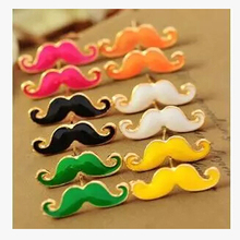 EK125 Hot Fashion European and American Punk Cute Sexy Vintage Drip Mustache Stud Earrings for Women Small Jewelry Wholesale(China)