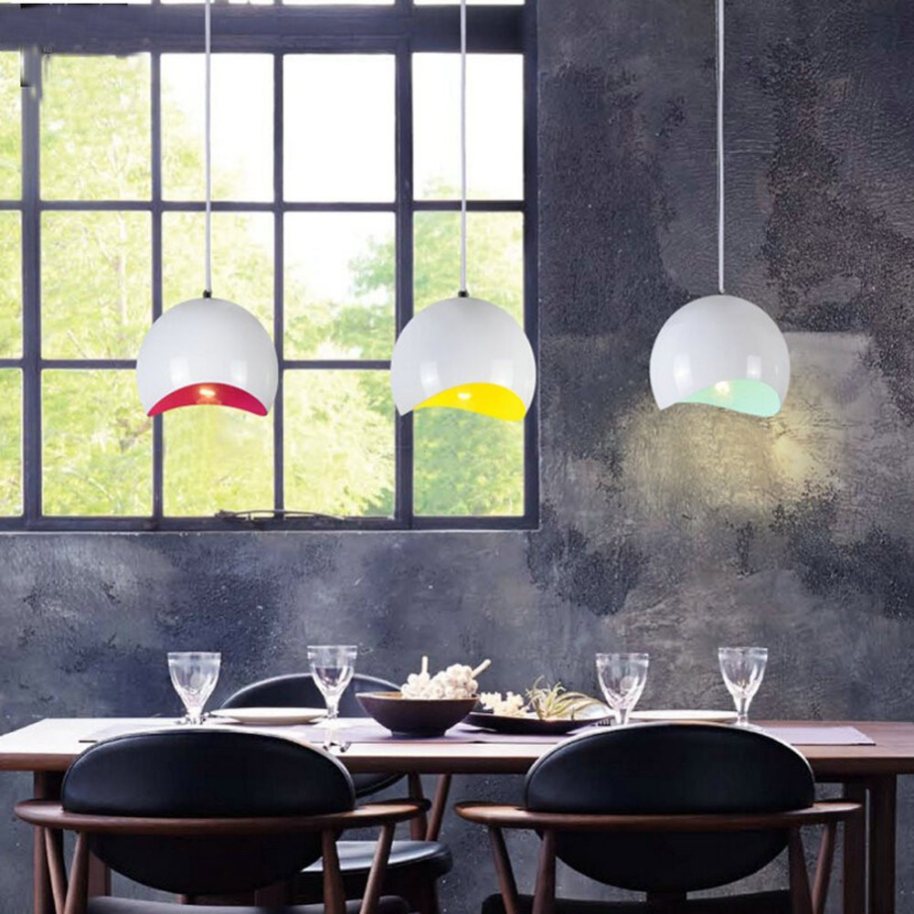 D20cm Simple Fashion Cafe Showcase Aluminum Droplight Moon Semicircular Eggshell Pendant Light For Restaurant Cafe Bar Home(China (Mainland))