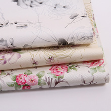 100*138cm Beauty flower soft PU leather fabric for sewing PU artificial leather for DIY bag sofa decorative free shipping