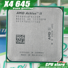 AMD Athlon II  X4 645 CPU Processor Quad-CORE (3.1Ghz/ L2 2M /95W / 2000GHz) Socket am3 am2+ free shipping 938 pin sell X4 640