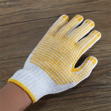 Labor Insurance Supplies Gloves Antiskid Anti-Static Protective Glue glove Cut Welding Gloves Good Quality(China)