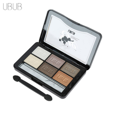 UBUB 6 Colors Roast Eye Shadow Powder Makeup Palette in Shimmer Metallic Glitter Cream Eyeshadow Palette for Beauty Women(China)