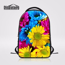 Dispalang Beautiful Floral Pattern Ladies Tourism Backpack Rucksack Women Back Pack Bag Student SchoolBag For Laptop Mochilas