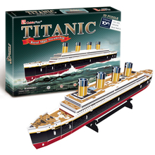 T0423 3D Puzzles Titanic ship DIY Paper Model kids Creative gifts Children Educational toys Ordinary version(China)