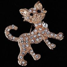 Luxurious Gold Full Shining Rhinestone Vintage Tiger Brooch Wedding Gift Fashion Jewelry Brooches for Women