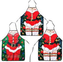 Christmas decoration Apron Merry Christmas Holiday Cooking Aprons Santa Claus Deer Cool Aprons