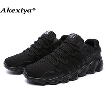 Akexiya Men Women Running Shoes Autumn Summer Fly Weave Light Breathable Sport Shoes Comfortable Sneakers(China)