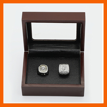 Gorgeous Ring sets with Wooden Boxes Replica Baseball Copper High Quality 2pcs/Packs San Francisco Giants Championship Ring(China)