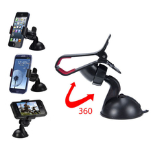 Universal 360 Degree Car Phone Holder Car Windshield Mount Bracket For Samsung Galaxy J5 S3 S5 S6 S7 edge Note 2 3 4 5 GPS PDA