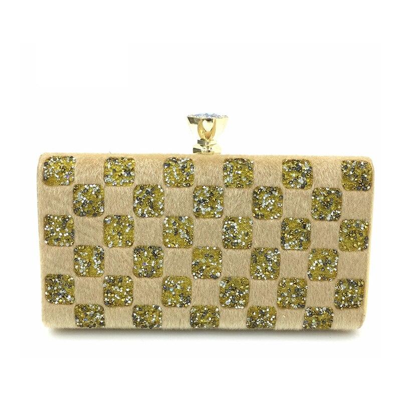 Homeda Women Evening Bag Pure Hand Double-Sided Diamond Dinner Bag Day Clutches Bolsa Feminina Ladies Clutch k-533