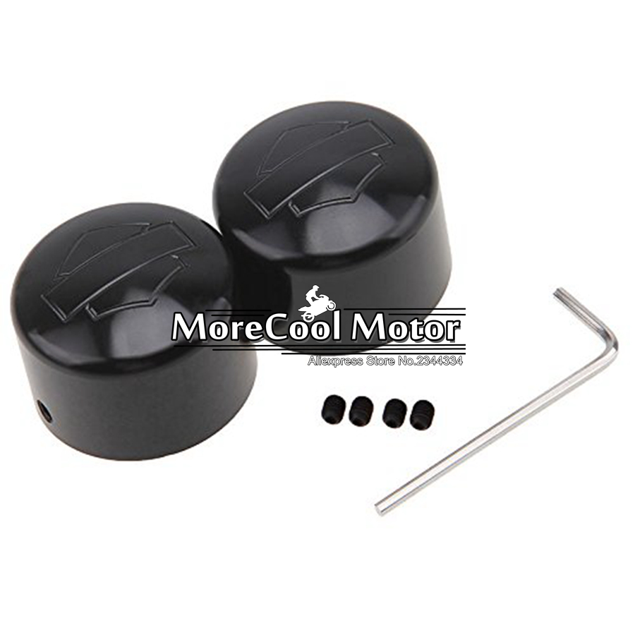 Front Axle Nut Cover Cap for Harley Softail Dyna V-Rod Sportster 883 1200<br><br>Aliexpress
