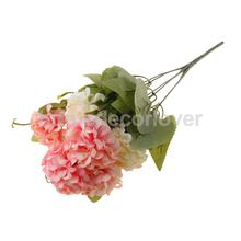 Artificial Chrysanthemum Ball Silk Flowers Bouquet for Home Decor Pink