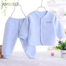 Newborn Baby Spring and Autumn Clothing Set Baby Boy Girl Cotton Striped Cute Cartoon Unisex Infant clothing Set (0-2 Years Old)(China)