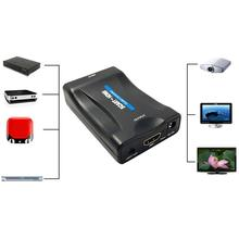1Set 1080P SCART To HDMI Video Audio Upscale Converter Adapter for HD TV DVD for Sky Box STB Plug and Play Home Accessories A273