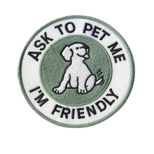 Cartoon small white dog brand logo embroidery clothing patch sewn patch decals, DIY accessories patch clothes sewing fabric