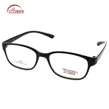 TR90 rectangle Large Black Eye Frame Ultra-light Custom Made Optical Myopia Reading Glasses Photochromic Progressive multifocal(China)