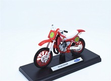 1:18 Welly Honda CR250R NO.3 Motorcycle Motocross Bike Model New in Box Red