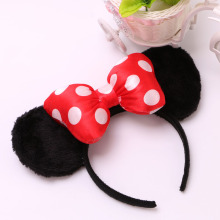 New  Mickey headband Cute sequin Bow Ear Hair Band Small minnie Mouse Halloween Christmas Party Headwear Hair Accessories