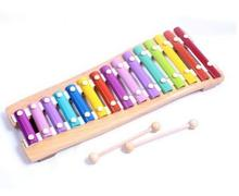 15 Scales Wooden Hand Knock Piano Children Kids Toy Musical Instrument Deluxe Gift