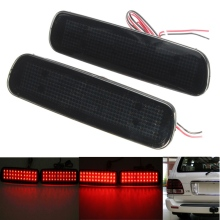 2Pcs Car Fog Red Lens Rear Bumper Reflector Tail Brake SMD LED Light Fog For Lexus LX470 Night Driving Run Brake Stop Lamp(China)