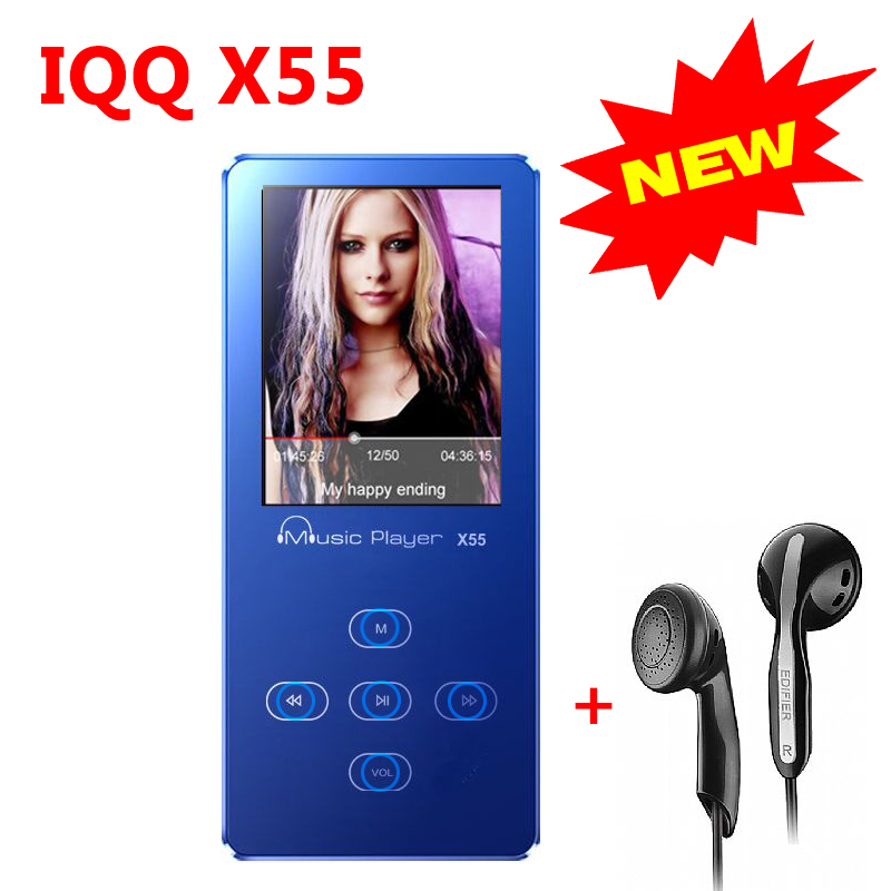 All Aluminum Alloy mini MP3 Player with Built-in Speaker Music Player with speaker mp 3 fm usb IQQ X55 mp 3 Player with radio(China (Mainland))