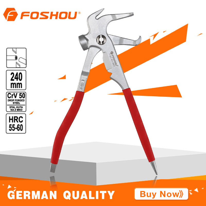 FOSHOU Wheel Balancing Weight Pliers 245mm Hammer Alloy Steel For The Balance and Correction of Vehicle Tires Industrial Grade<br>