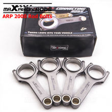 H beam rod bielle for Opel Ascona B CIH Motor 136.5mm Conrod Connecting Rods ARP BOLT 4340 forged shot peened floating racing