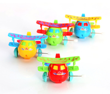 Lovely toy wind up toys dump chain dumping Kids Gift Baby toy baby multicolour butterfly wings classic toys airplane model +(China)