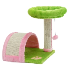 Hot Sale!!! Cat Furniture Cat Climbing Wood Product Arched Shape Kitten Play With Ball Colorful Cat Training Toy Tree Cat Bed(China)