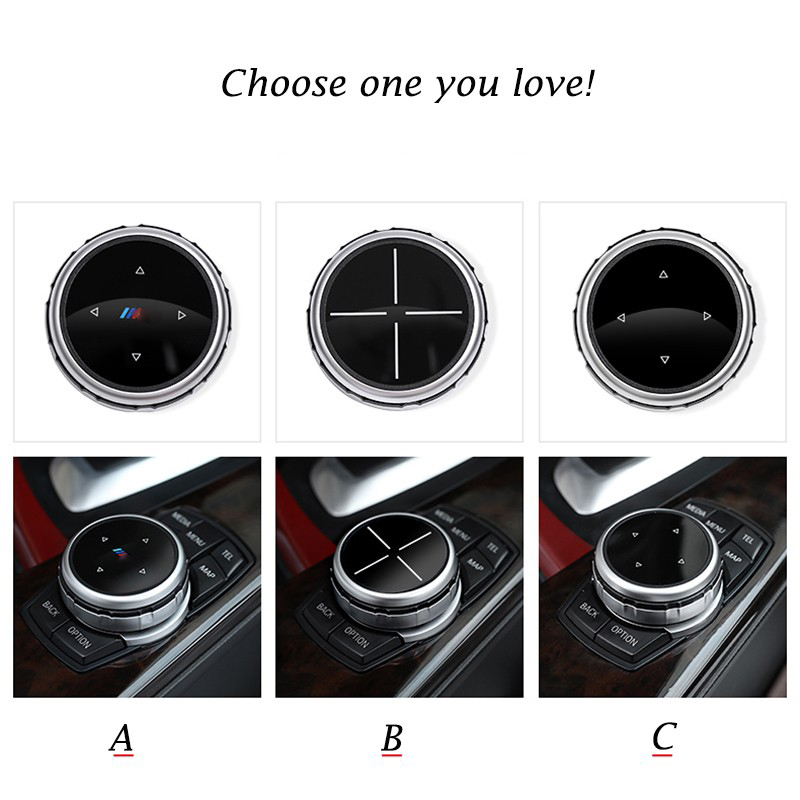 AIRSPEED idrive Car Multimedia Buttons Cover M Emblem Stickers for BMW E46 E39 E60 E36 F30 F10 X5 E35 E34 E30 F20 E92 E60 M5