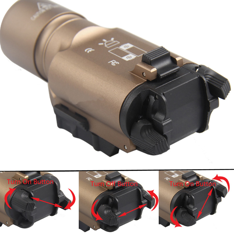 Tactical X300 LED Weapon light Flashlight Torch For Hunting Free Shipping HT8-0002-10