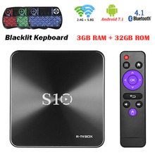 S10 TV BOX S10 Smart TVBOX Android 7.1 S912 Octa Core DDR4 3G/32G VP9-10 4K H.265 2.4GHz 5.0GHz WiFi PK H96 Prp plus X96 x92(China)
