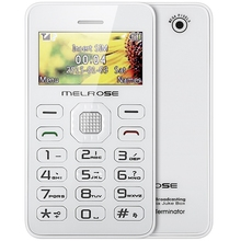 MELROSE G1 1.7 inch Card Phone Mini Music Pocket Cell Phone Back Camera FM MP3 Playback Bluetooth Alarm Calendar Calculator