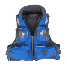 1PCS Water Sports Outdoor Polyester Adult Life Jacket Safety Accessory Swimming Boating Ski Drifting Vest Survival Suit 5 Colors