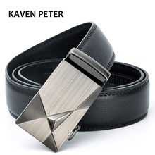Genuine Leather Male Belt New Designer Automatic Real Leather Belt High Quality Luxury Trousers Pants Men Belts(China)
