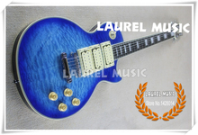 100% Positive Feedback Custom Electric Guitar Blue Quilted Maple LP Guitar Kit or Body Custom Available