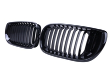1pair Gloss Black Front Kidney Grilles Grill Lattice Cover For BMW E46 LCI After Facelift 320i 325i 330i 2002-2005  //
