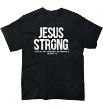 Summer New Christian Jesus Strong Religious Cross Faith Mens t Shirt cotton leisure short-sleeved euro size O neck t-shirt(China)