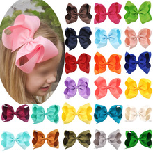 1pc 6 Inch Girls Hair Accessories Bowknot Grosgrain Ribbon children princess hairpins kids hairwear cute hair bows clips(China)